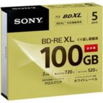 ソニー ブルーレイディスク BD-RE(くり返し録画用)    5枚 型番:5BNE3VCPS2